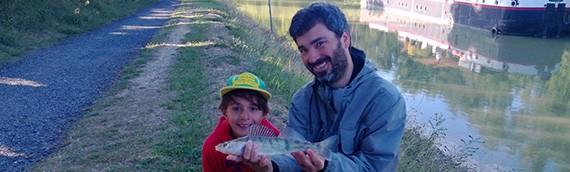 Louis, 7 ans, pêcheur!