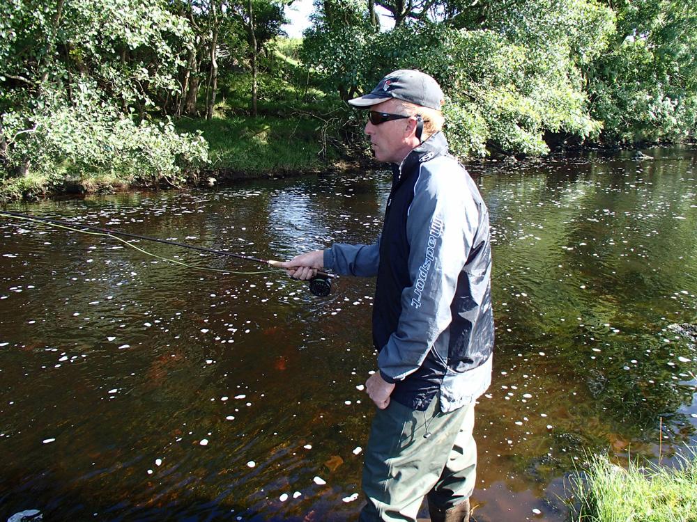 Rénald en action de pêche à la mouche