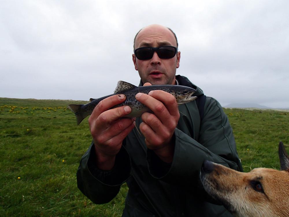 Truite de mer prise par Jo à la cuiller