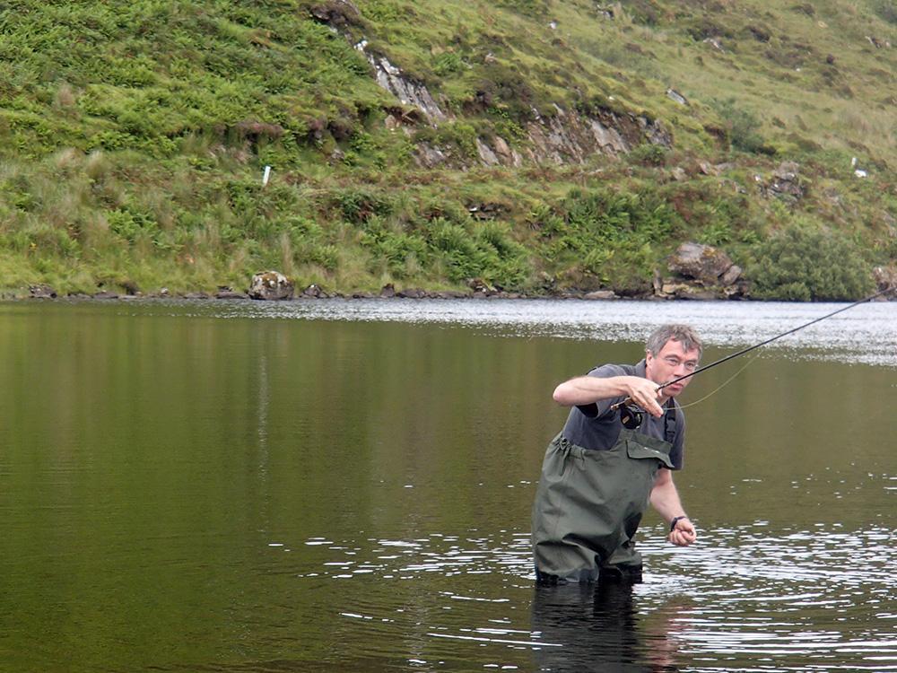 Olivier en action de pêche...