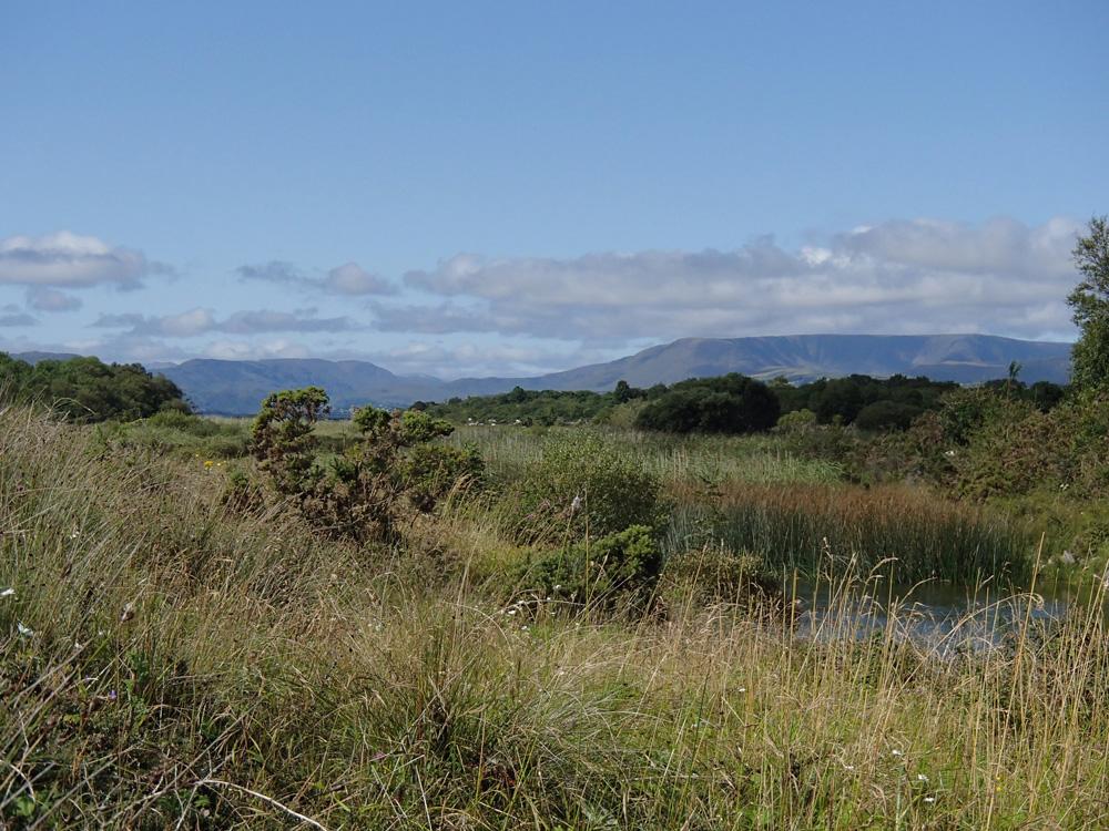 Les montagnes du Connemara dans le lointain...
