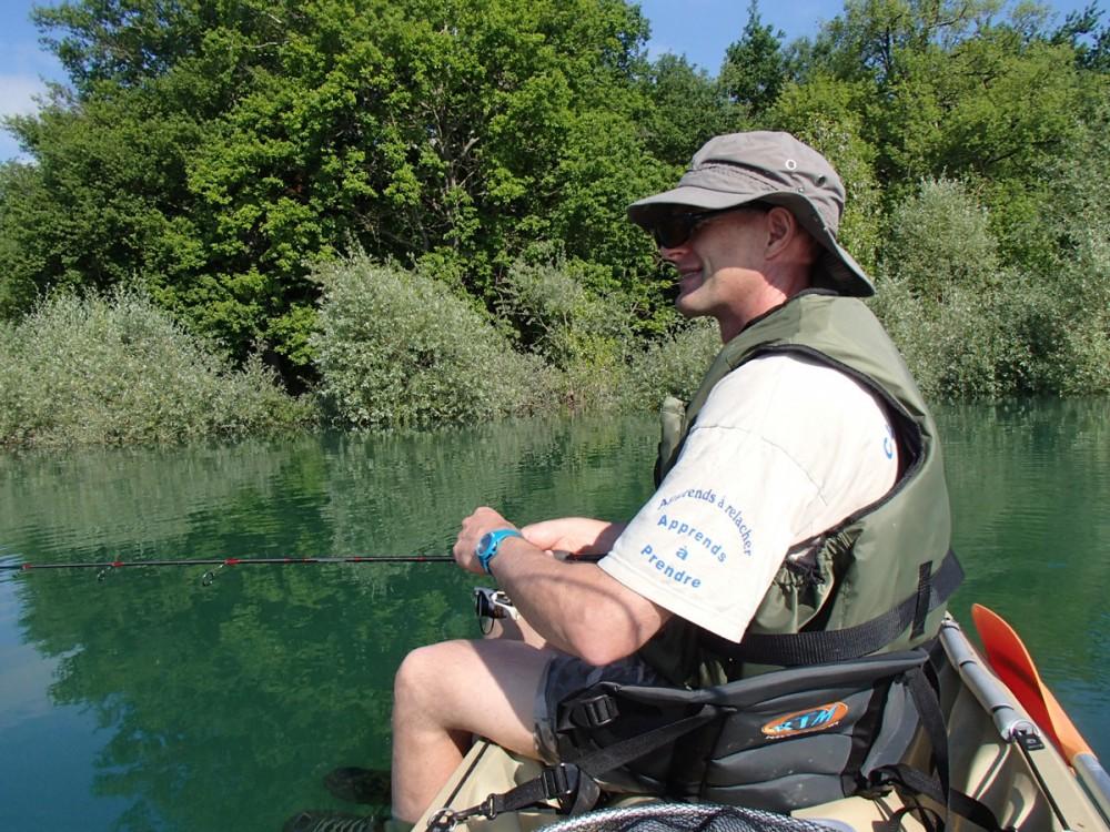 Jean-Michel, les pieds dans l'eau...