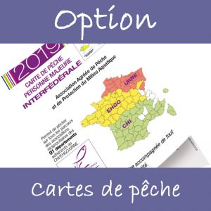 Option cartes de pêche